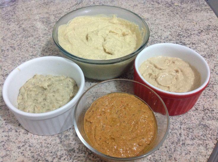 Pastas àrabes: homus,tahine,babaganoush e mahmara.