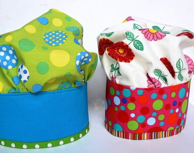 Sewing ~ Kids Chef's Hat Tutorial  would go great with a matching apron!