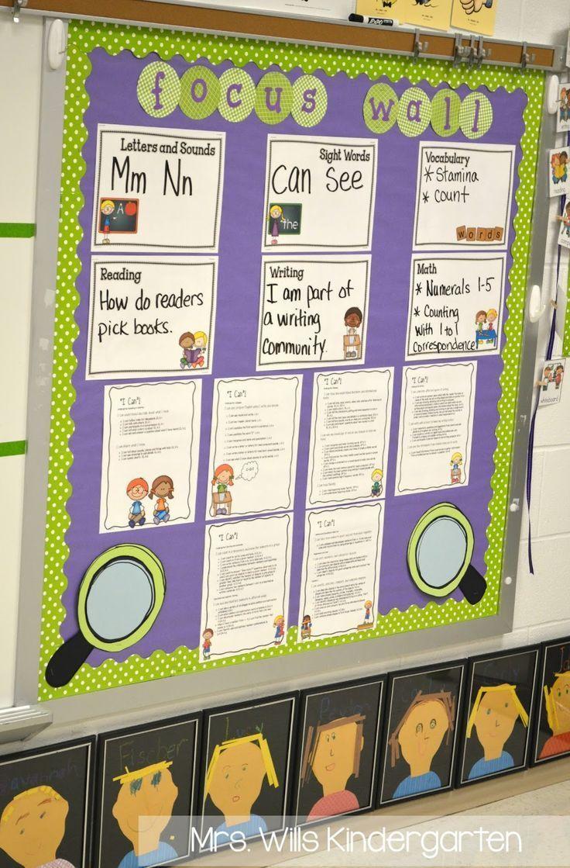Mrs. Wills Kindergarten: Peek at My Week AND classroom tour - focus board