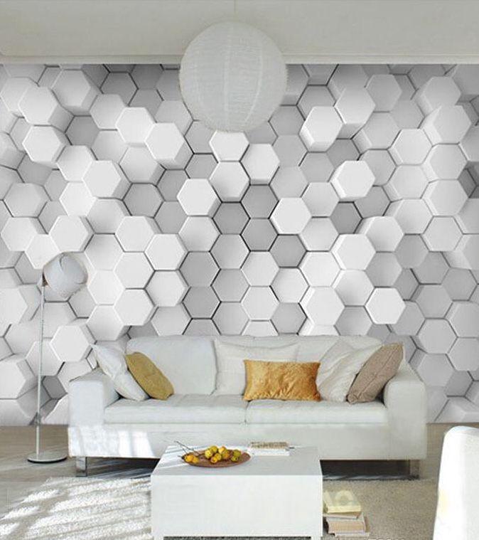 Best Grey White Hexagon 3D Wallpaper In 2019 Geometric 640 x 480