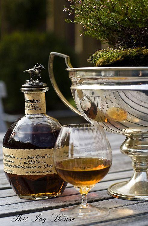 bourbon whiskey—selected for shape, cork, & taste.
