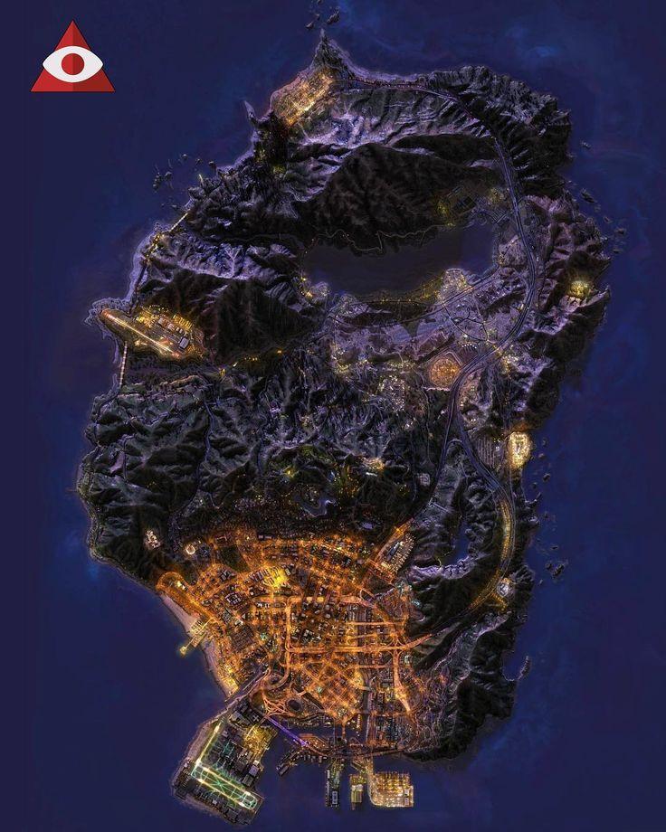 A map of Los Santos