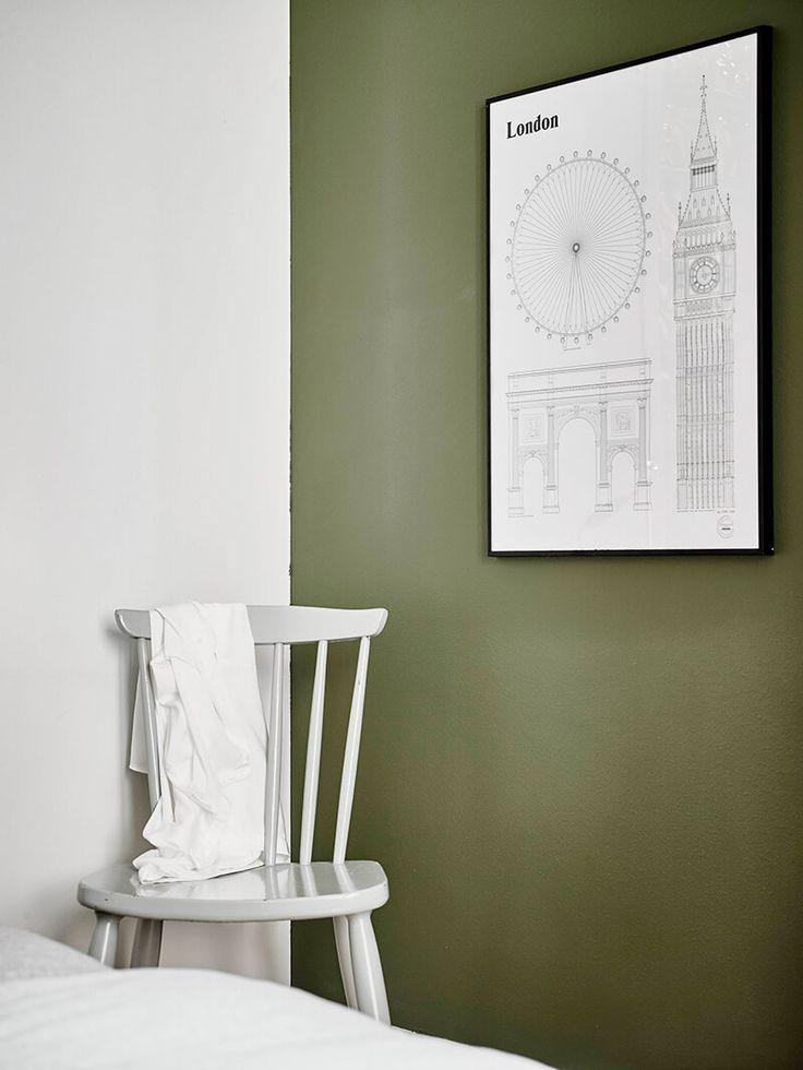 Les 25 meilleures id es de la cat gorie couleurs de peinture neutres sur pinterest peinture - Chambre scandinave vert ...