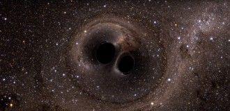 Est-ce que les trous noirs qui ont fusionné à 1,3 milliard d'années de la Terre et qui ont été détectés par Ligo en septembre 2015 étaient des trous noirs primordiaux? C'est possible et dans ce cas, nous devrions observer d'autres cas similaires — Crédit : NASA