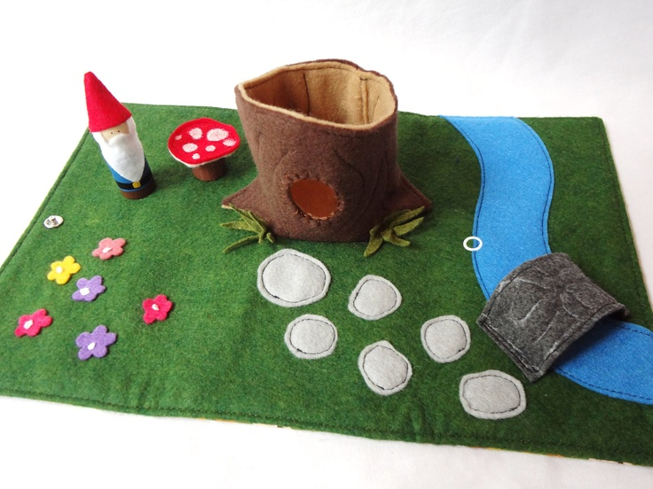 Gnome Home Travel Play Mat for On-the-Go. $40.00, via Etsy.
