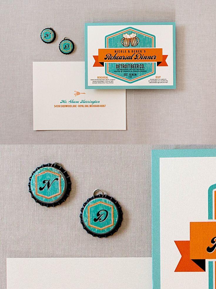 creative wording for rehearsal dinner invitations%0A Rehearsal Dinner Brewery Invitations