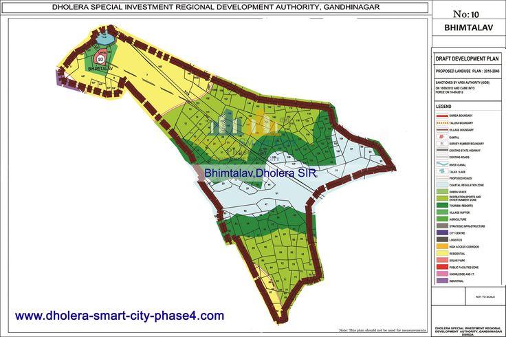 Map of BHIMTALAV, DholeraSIR #Dholera #DholeraSIR #DholeraSmartCity #Gujarat