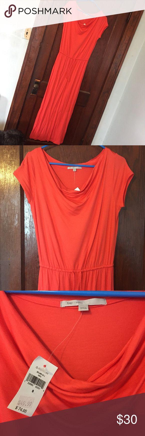 Gap Coral Maxi Dress Brand New!! Coral maxi dress (fits more like a medium) GAP Dresses Maxi