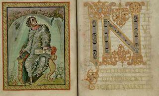 Sw. Marek - skryptorium: Ciekawostki ze skryptorium średniowiecznego - Ewangeliarz Ebbona