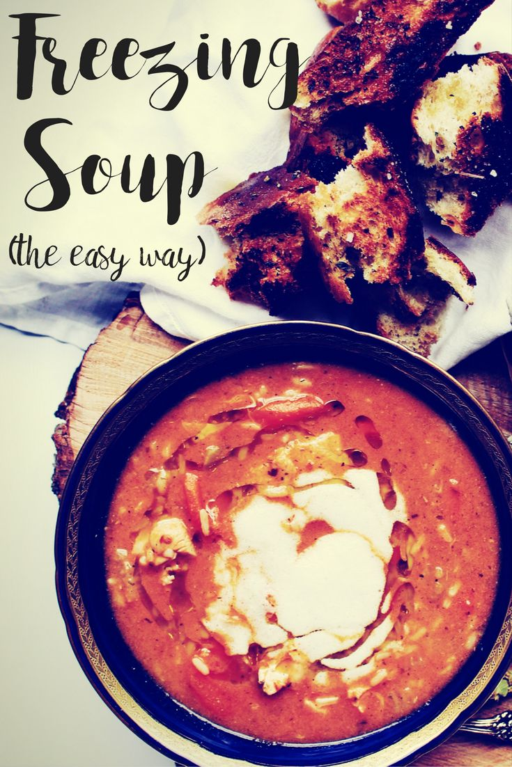 Freezing Soup the easy way