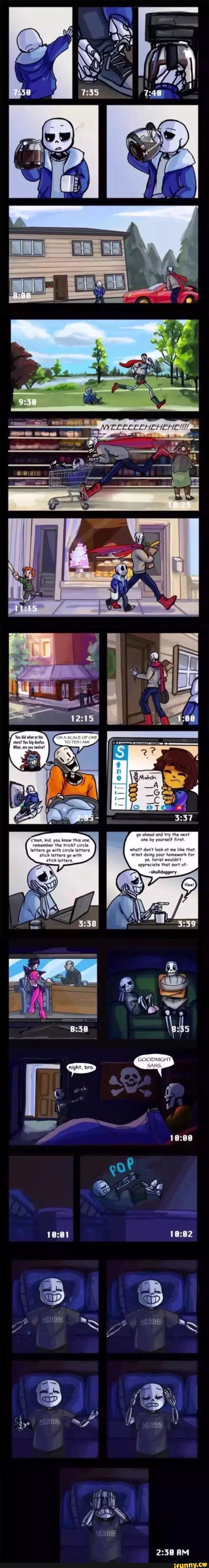 """Sans, Papyrus, Toriel, Frisk, Undertale Check out the link Ashia Wortham put, """"Hey guys this is a comic by wilyart called Insomnia"""" here is the link http://wilyart.tumblr.com/tagged/insomnia-comic/chrono         It will explain a lot more, if you were confuse about the ending part of the comic"""