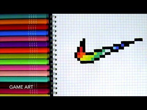 Pixel Logo Nike Youtube Pixel Art Coloriage Pixel Et
