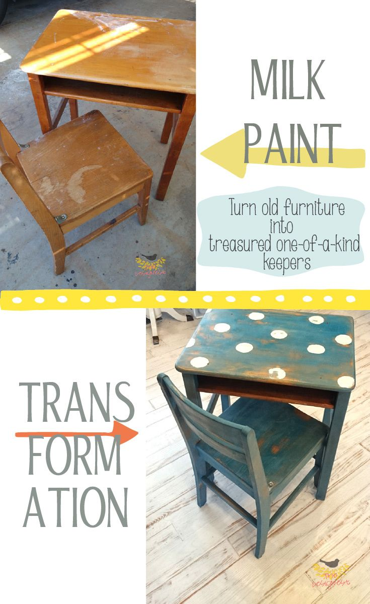A little milk paint took this old school desk from a beaten up eyesore to an. 199 best Classroom Furniture images on Pinterest   Vintage school