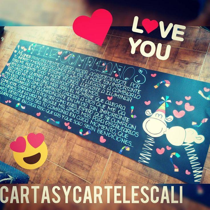 """Cali- Valle  Facebook- cartasycarteles  WhatsApp- 3205797879  """"Cartas y Carteles para  Cualquier ocasion""""  ➡#cartasycarteles"""