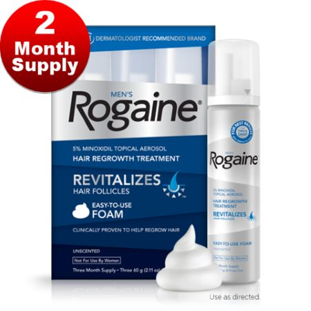 Rogaine 2 Month supply from Minoxidil2U, Liverpool based hair loss specialists.