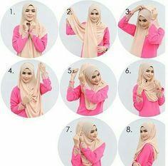 hijab tutorial, hijabers, and daily hijab image