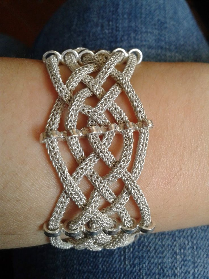 Idea for viking knit bracelet