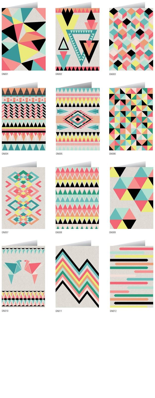 I love these patterns!!!! I think the colours look amazing together and would…