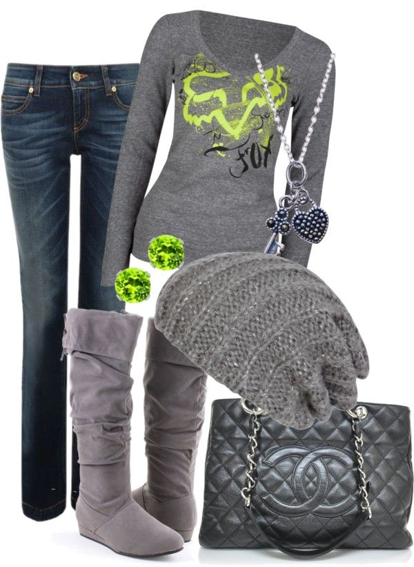 """Green Fox"" by erin-m-heeney ❤ liked on Polyvore"