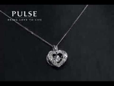 Pulse Heart Diamond Pendant - PP3114WG