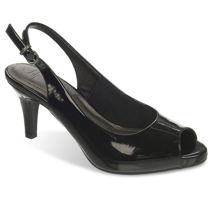 LifeStride Teller Women's Slingback Dress Heels, Size: medium (8.5), Black