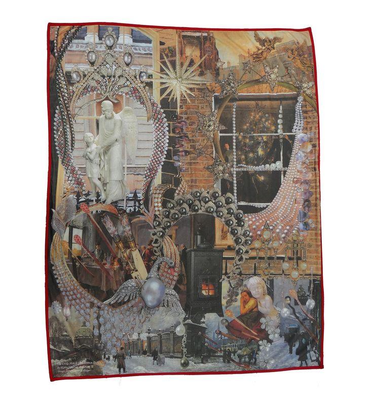 """Tæppet er håndlavet i Spanien og er med den berømte historie """"Den lille pige med svovlstikkerne"""" af HC Andersen #hcandersen #tæppe #kunst #eventyr #håndlavet #butik #købe #tæppesalg #digitalttrykt #hjemdesign #trykt #indretning #interiørdesign #luksus #historie #tilseng"""
