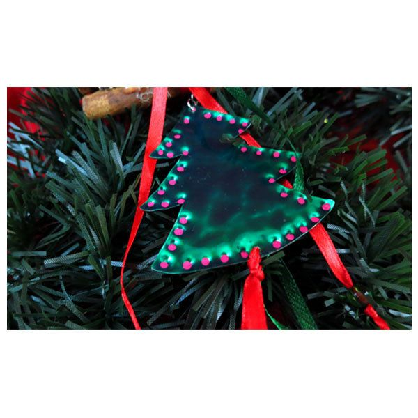 Christmas tree by wrought alpaca ornament. Christmas decoration. Christmas ornament. Holiday decoration. Handmade Christmas creations. by UniqueJeweleryDeco on Etsy