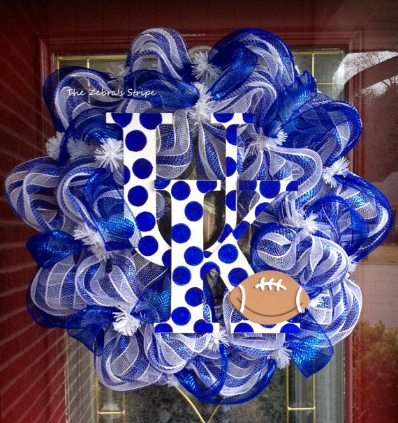 UK Kentucky Wildcats Football Blue and White by TheZebrasStripe