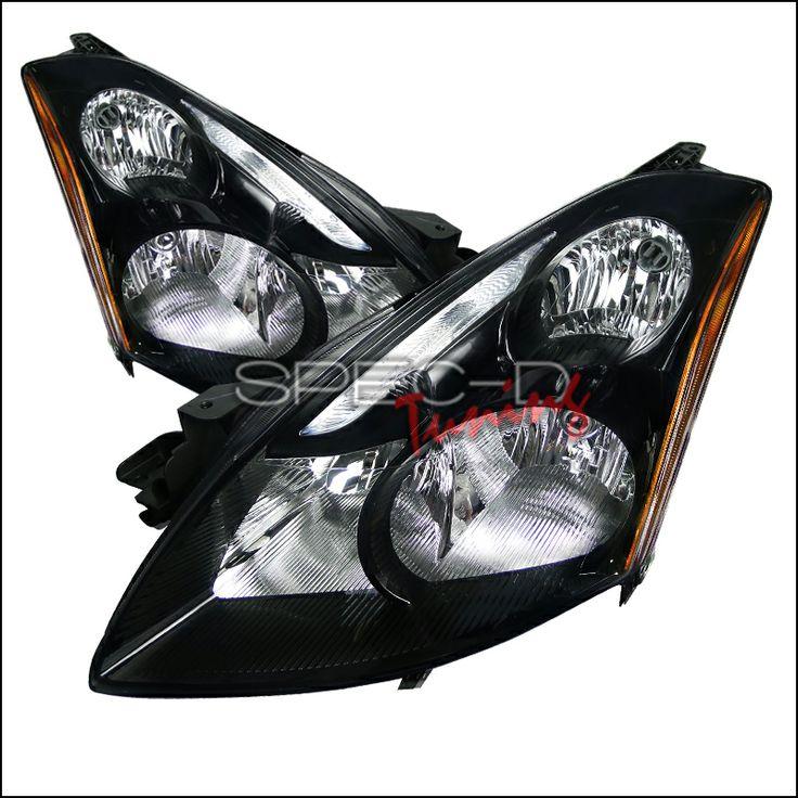 2010 2012 Nissan Altima 4 Door Black Housing Clear Lens