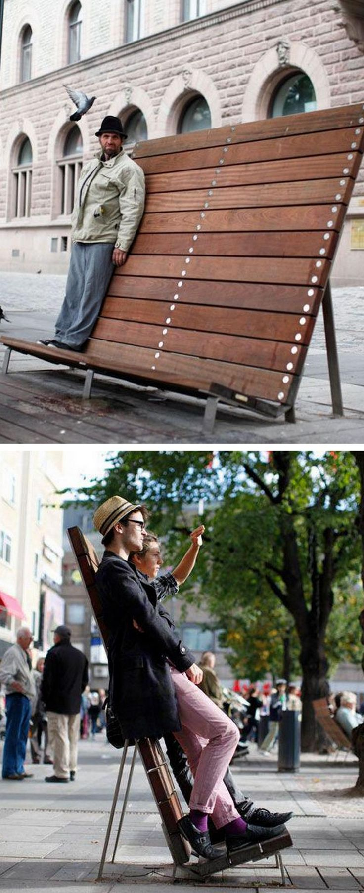 Kajen Planka / Fence seating by Thomas Bernstrand for Nola. Click image for link to full description and visit the slowottawa.ca boards >> https://www.pinterest.com/slowottawa/