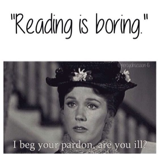 Hysterical bookworm reactions to people who don't like to read.