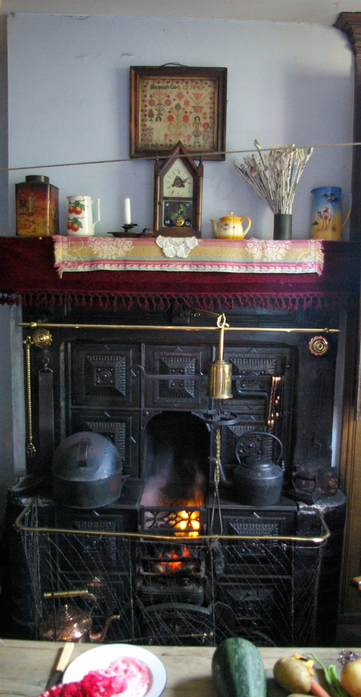 Old fashioned fireplace at the Black Country Living Museum in Birmingham