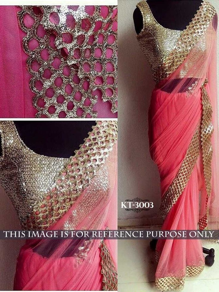 Pink #Color #Designer #Bollywood #Replica #Embroidered #Saree