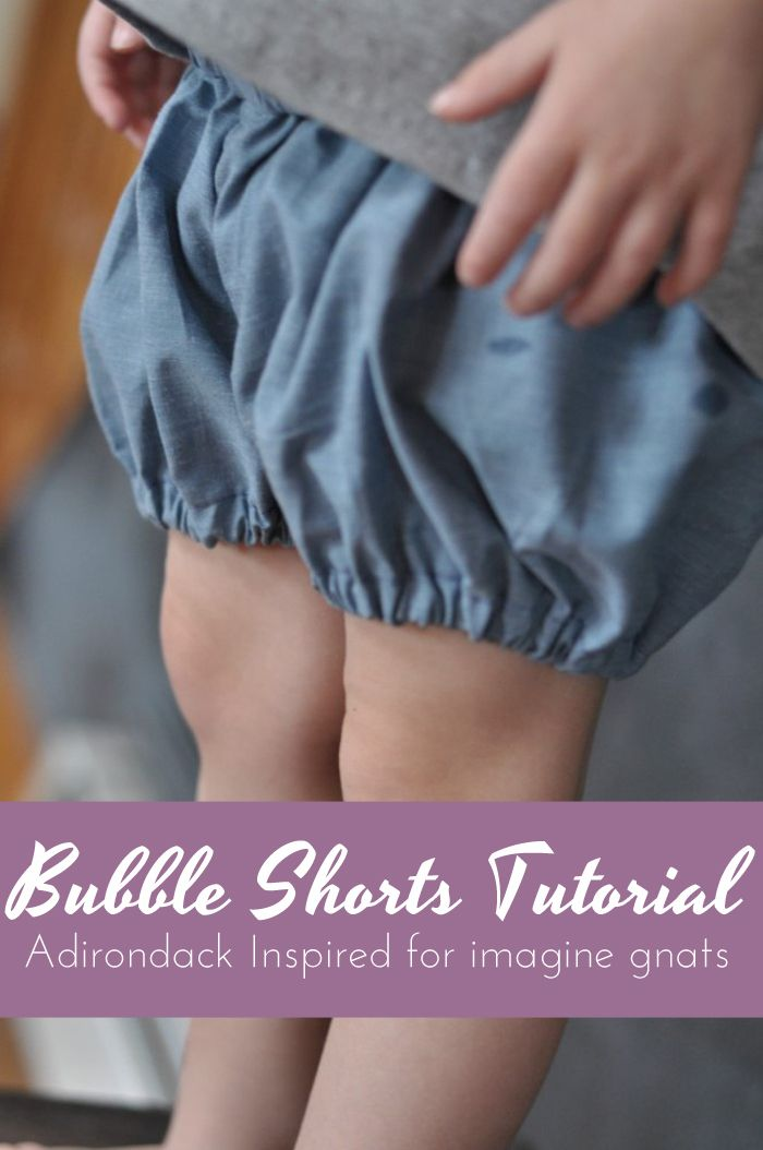 bubble shorts sewing tutorial - great girls pants idea for summer