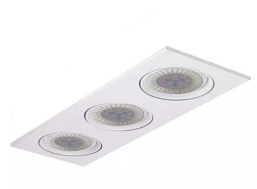 spot embutir ar111 cardanico 3 luces blanco con lamp led 12w