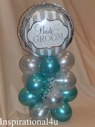 Details About Teal Amp Silver Birthday Anniversary Wedding