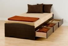 Espresso Twin XL Mate's Platform Storage Bed with 3 Drawers