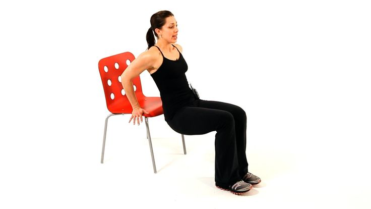 This is how you should do chair dips to strengthen your upper body.