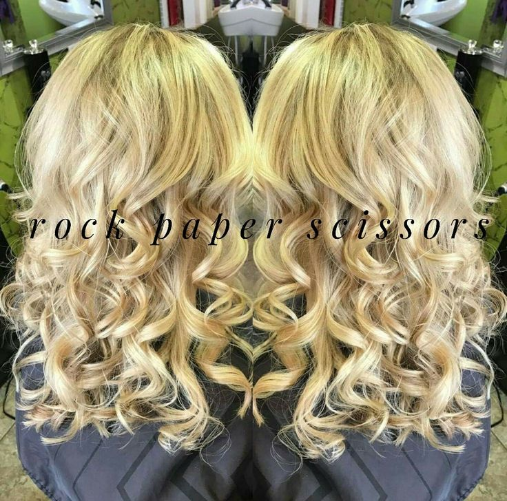 Curly Blonde Hair by ROCK paper Scissors in Bolivar,  MO  #forpeoplethatROCK