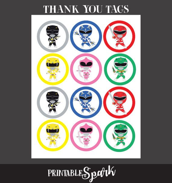 Power Rangers Toppers Power Rangers Stickers Power Ranger