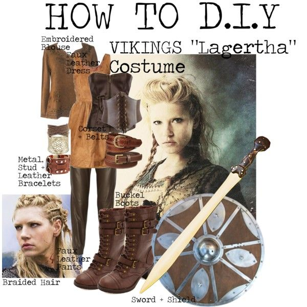 """How to DIY VIKINGS ""Lagertha"" Costume"" by tlexrawr on Polyvore"