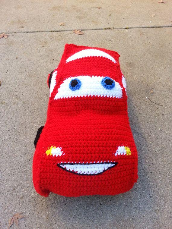 Stuffed Pillow Race Cars