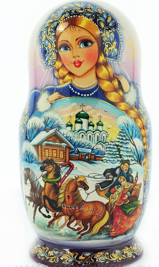 """МАТРЕШКА СКАЗКА """"ЗИМНЯЯ ТРОЙКА """" 10 МЕСТ http://www.rusvelikaia.ru/"""