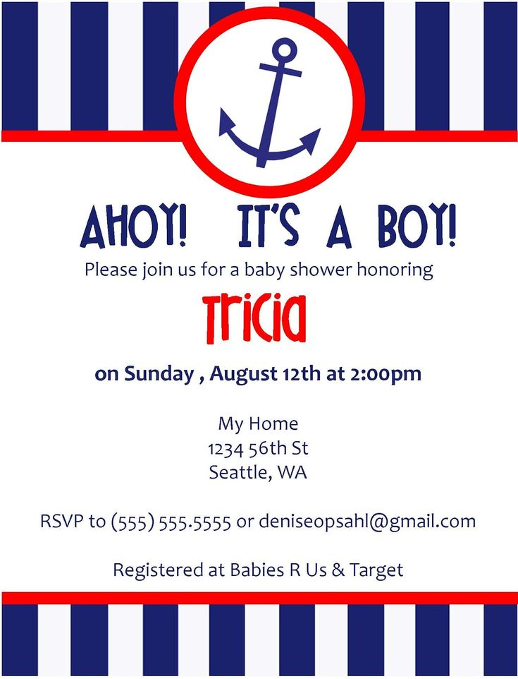 100 best Red, White and CUTE! images on Pinterest Boy shower - baby shower invitations for word templates