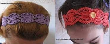 Patrón #1412: Diadema a Crochet   CTejidas [Crochet y Dos Agujas]