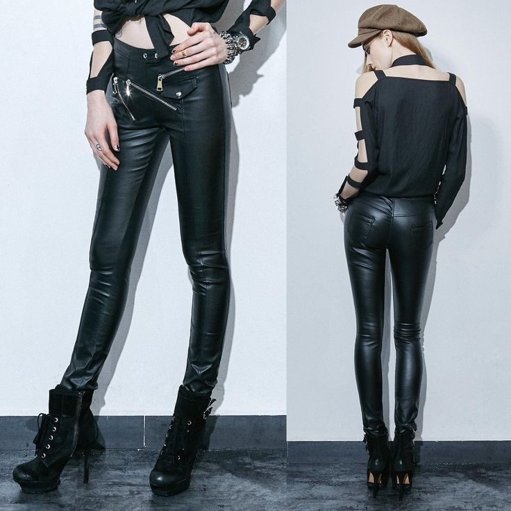 PUNK RAVE Skinny Zip Pants Kunstlederhose Fake Leather Pants EDEL PUNK GOTHIC | eBay