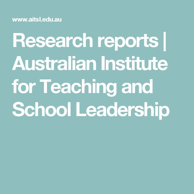 Research reports | Australian Institute for Teaching and School Leadership