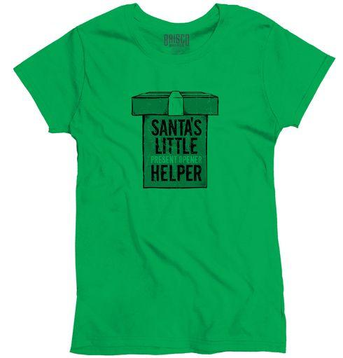 Santa's Little Helper Ladies T-Shirt