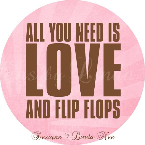 FLIP FLOP Summer on the Beach  Life is better in flip flops quote by DesignsbyLindaNee,