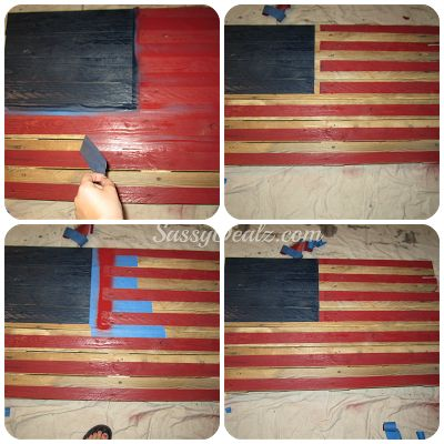 DIY: How To Make an American Flag out of a Wood Pallet (Step by Step Tutorial w/ Pictures) #4thofjuly